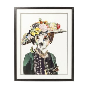 Tablou Kare Design Art Lady Dog, 72 x 90 cm