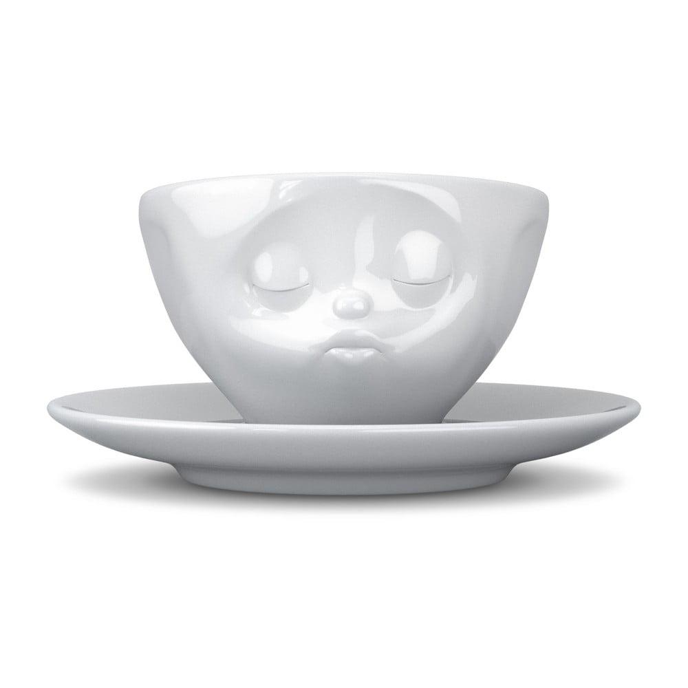 Bílý líbající hrnek na kávu 58products
