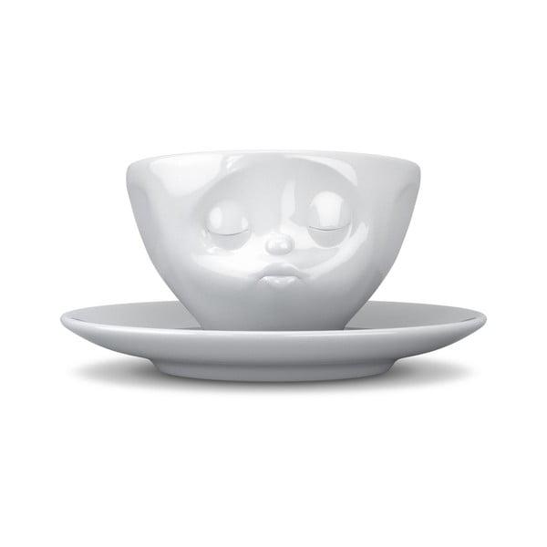 Biely bozkávajúci porcelánový hrnček na kávu 58products, objem 200 ml