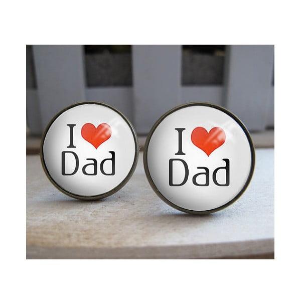 Butoni de manșetă I Love Dad