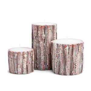 Sada 3 svíček Candle Oak