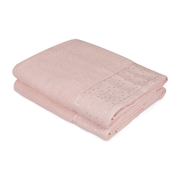 Sada 2 ručníků z čisté bavlny Pippy, 90 x 150 cm