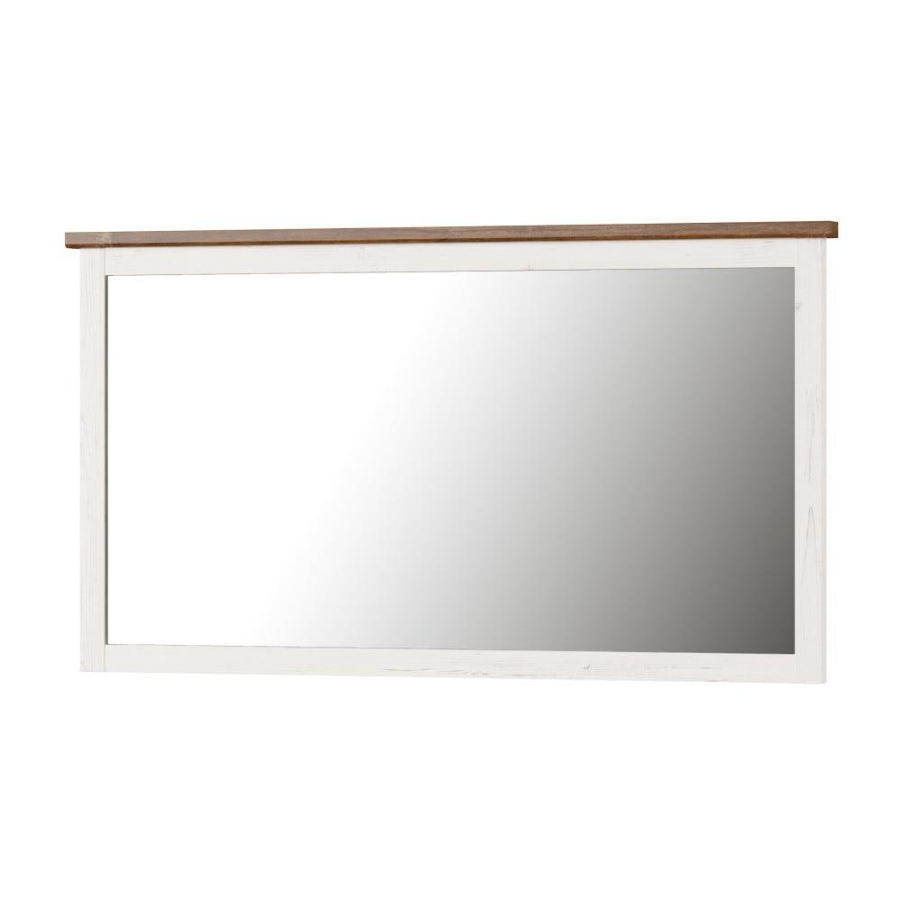 Fotografie Bílé nástěnné zrcadlo Szynaka Meble Country