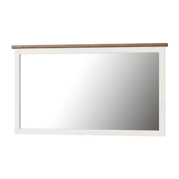 Bílé nástěnné zrcadlo Szynaka Meble Country