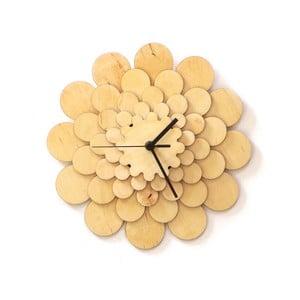 Dřevěné hodiny Flower, 29 cm
