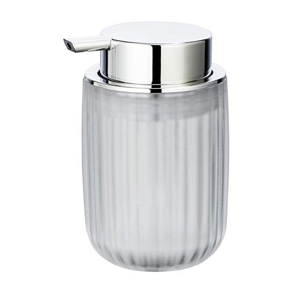 Mléčně bílý dávkovač mýdla Wenko Agropoli Frost, 250ml