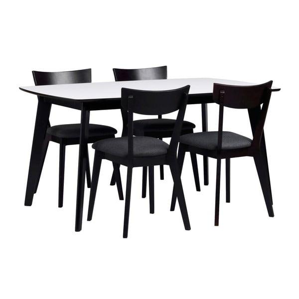 Černobílý jídelní stůl Folke Griffin, délka 150 cm