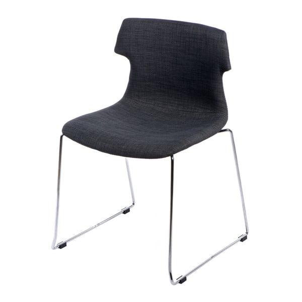 Sada 2 grafitových čalouněných židlí D2 Techno