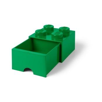 Cutie depozitare cu sertar LEGO®, verde imagine