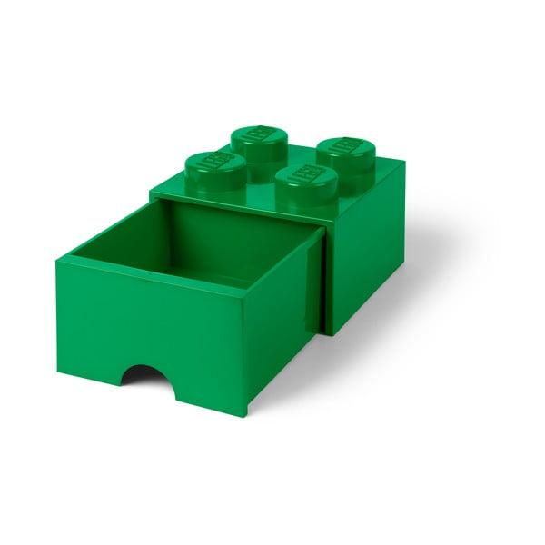 Cutie depozitare cu sertar LEGO®, verde