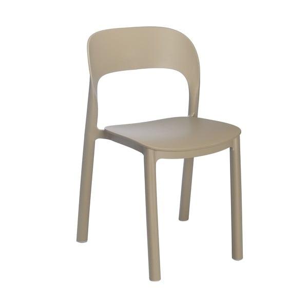 Set 4 scaune Resol Ona, maro nisipiu