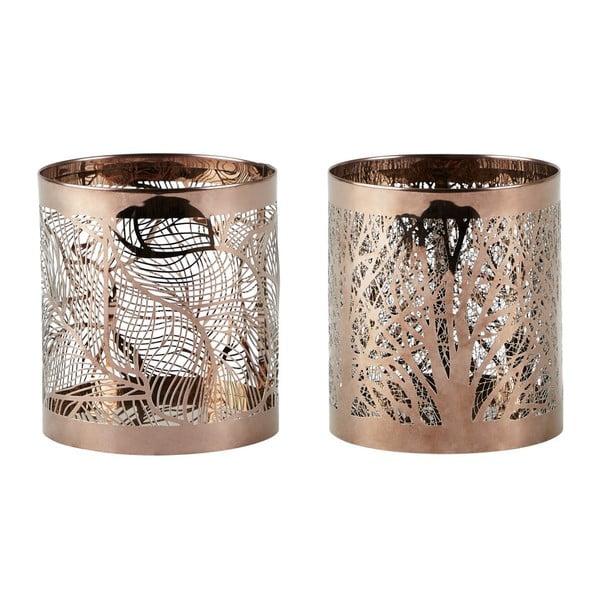 Sada 2 svícnů KJ Collection Copper Stain, 9 cm
