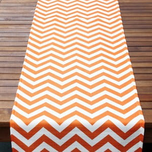 Běhoun na stůl Orange Chevron