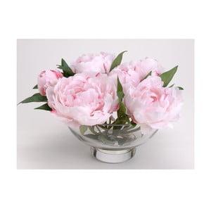 Umělé květiny ve váze Peony Pink