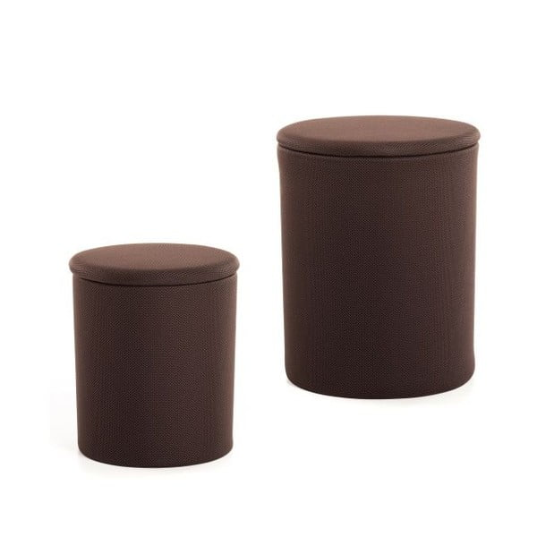 Sada 2 taburetek The Drum Coffee Bean