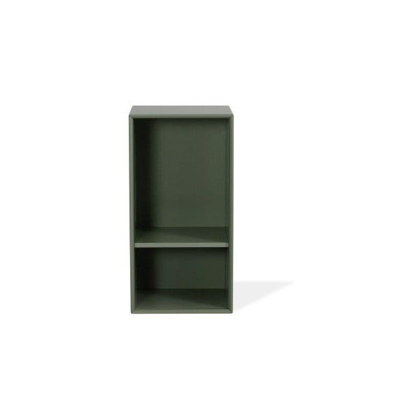 Tmavě zelená police Tenzo Z Halfcube, 36x70cm