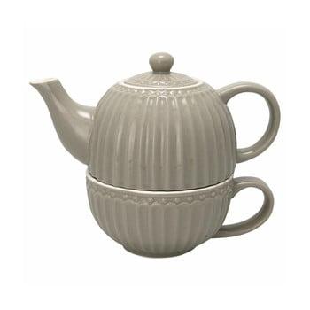 Ceainic și cană din ceramică Green Gate Alice, gri