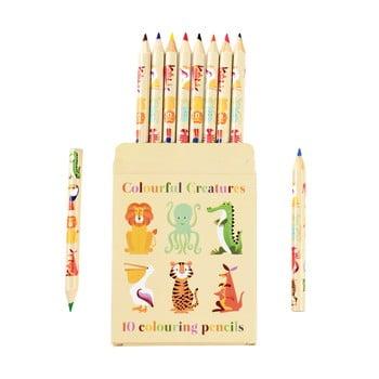 Set 10 creioane în husă cu model cu animale Rex London