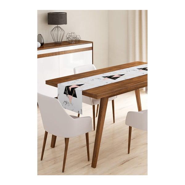 Běhoun na stůl z mikrovlákna Minimalist Cushion Covers Marble, 45x145cm