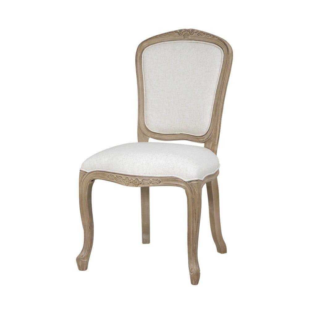 Béžová jídelní židle bez područek s konstrukcí z březového dřeva Livin Hill Venezia