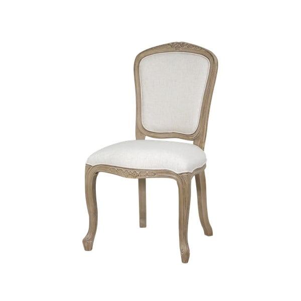 Beżowe krzesło z konstrukcją z drewna brzozowego Livin Hill Venezia