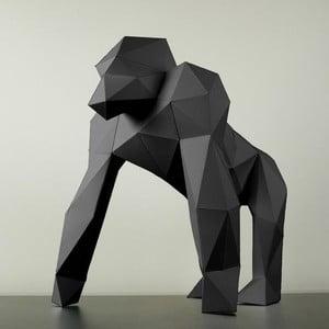 Papírová socha Gorila, černá