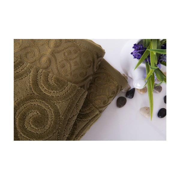 Set dvou ručníků Hanzade Green, 70x140 a 50x90 cm