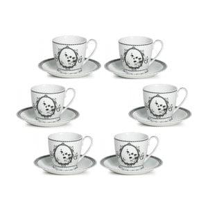 Sada 6 čajových šálků s podšálky