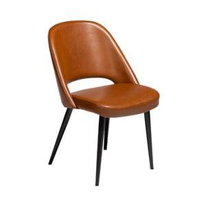 Koňakově hnědá jídelní židle z eko kůže DAN–FORM Denmark Grace
