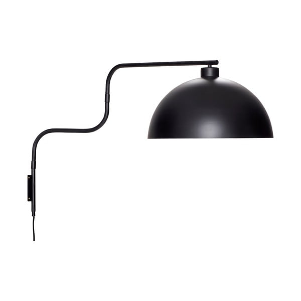 Černé nástěnné svítidlo Hübsch Hurgo