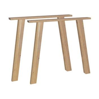 Suport/picioare din lemn de stejar pentru blat masă De Eekhoorn Outline