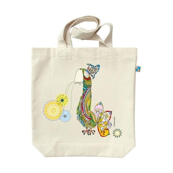 Plátěná taška Šťastný Páv