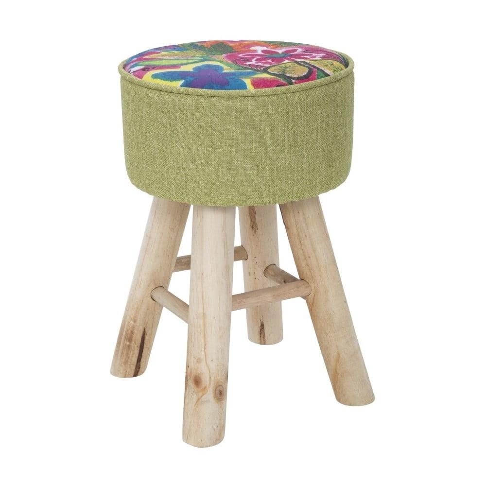 Stolička s podnožím z gumovníkového dřeva Mauro Ferretti Hippie, Ø28cm
