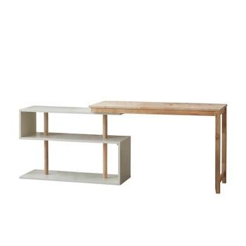 Birou cu raft variabil DEEP Furniture Mallory