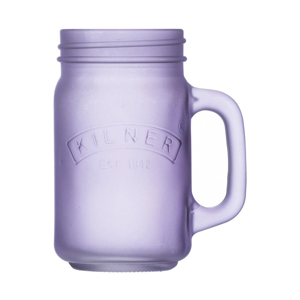 Mléčně fialový džbánek Mason jar Kilner, 0,4 l