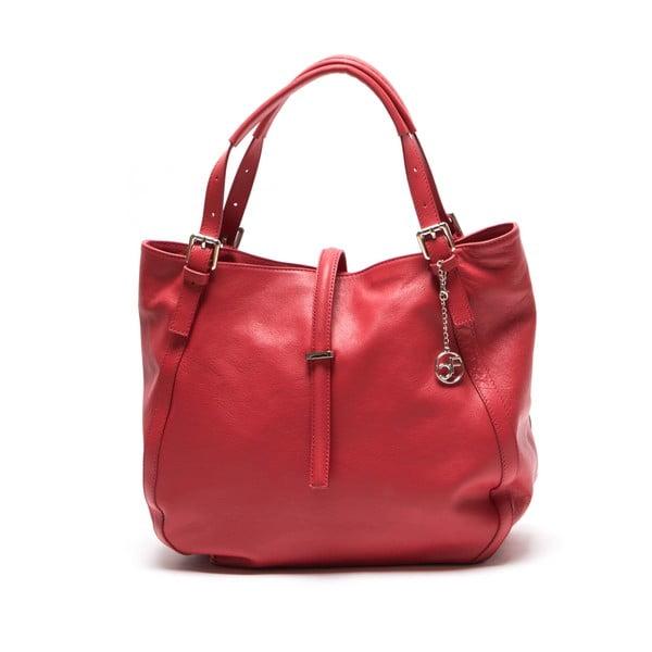 Kožená kabelka Theresa, červená