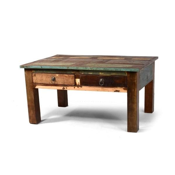 Stolek z teakového dřeva Goa, 90x63 cm