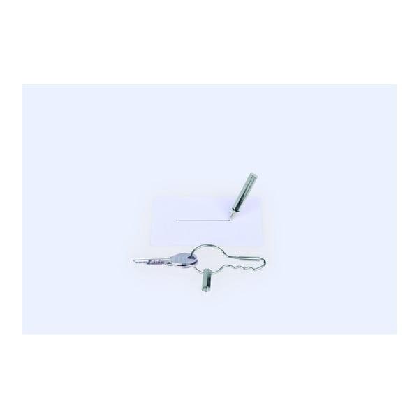 Spona na klíče s tužkou DOIY Keyring Pen Silver