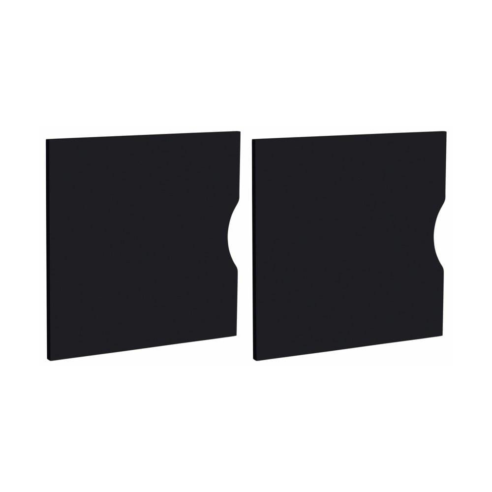 Sada 2 černých dvířek do regálu Støraa Kiera, 33 x 33 cm