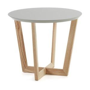 Odkládací stolek z jasanového dřeva s šedou deskou La Forma Rondo
