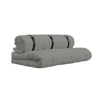 Canapea extensibilă cu detalii din piele Karup Design Buckle Up Grey de la Karup Design
