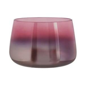 Růžová skleněná váza PT LIVING Oiled, výška 10 cm