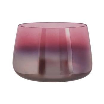 Vază din sticlă PT LIVING Oiled, înălțime 10 cm, roz de la PT LIVING
