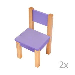 Sada 2 fialových dětských židliček Mobi furniture Mario