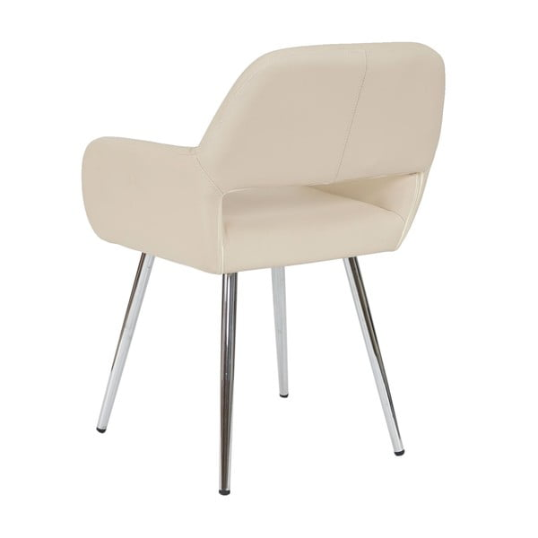 Krémová židle Mendler Dohna