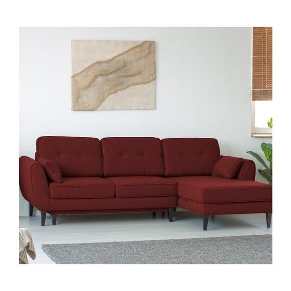 Terakotově červená 3místná pohovka HARPER MAISON Laila, pravý roh