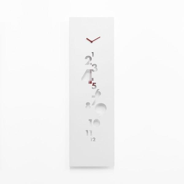 Nástěnné kyvadlové hodiny Swing Time Steel, bílé