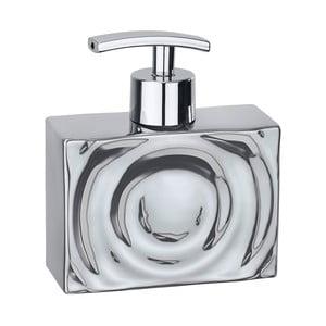Keramický dávkovač na mýdlo ve stříbrné barvě Wenko Signs
