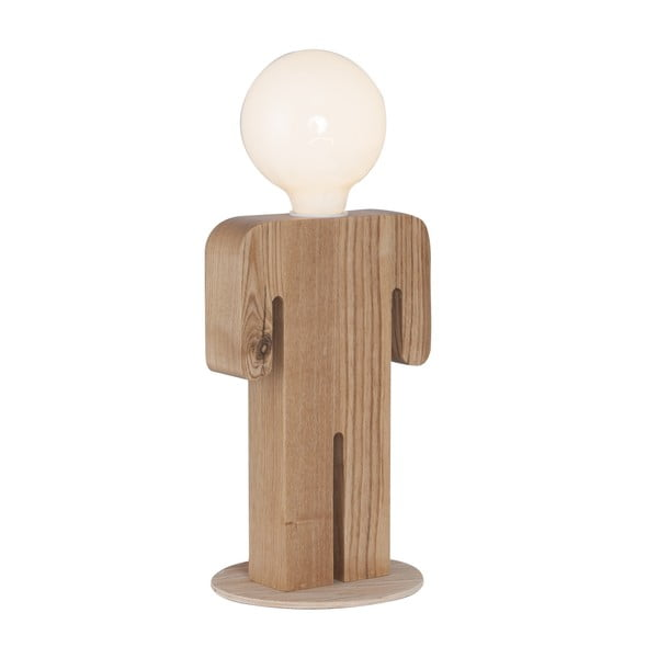 Dřevěná stolní lampa Homemania Christian