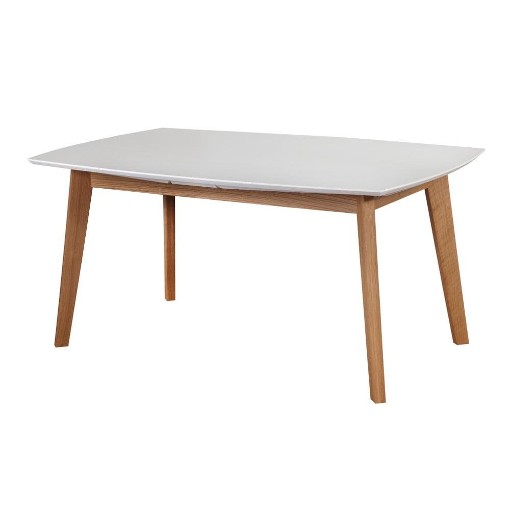 Bílý rozkládací jídelní stůl Dřevotvar Ontur35, 160x100cm